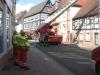 Teile der Haupt- und der Mühlstraße waren für den Verkehr gesperrt.