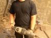 Wichtiges Werkzeug: Bohrhammer