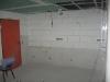 Blick in den künftigen Küchenbereich. Ein Teil der Wandfliesen sind bereits angebracht.