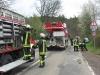 12. April 2011 – Pferderettung, Otterberg Neumühle; Kran wird in Stellung gebracht.