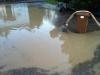 19. Mai 2012 - Beseitigung Unwetter-Folgen, Bereich Niederkirchen; Überfluteter Hof, Wörsbach Olsbrücker Straße