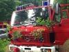 Das geschmückte Tanklöschfahrzeug (Montag, vor Wanderung nach Otterberg)