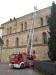 Fortbildung Drehleitermaschinisten am 21. Februar 2015, Einweisung und Inbetriebnahme an der Abteikirche