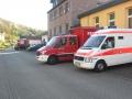 Alarmübung Frankelbach; Bereitstellungsraum am Feuerwehrhaus