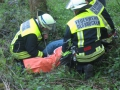 Alarmübung Frankelbach; Verletztenversorgung