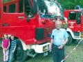 """""""Das letzte Frühlingsfest für das TLF"""", so Alt-Wehrleiter Gerwald Wenz. Er beschaffte in den 1980ger Jahren das Fahrzeug."""