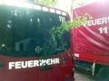 Auch die Feuerwehrfahrzeuge sind für die Rückfahrt nach Otterberg geschmückt.