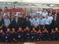 Feuerwehrfest 2015; Gruppenbild vor der alten Drehleiter