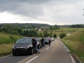 18. Juni 2016 - Verkehrsunfall, L388 Schneckenhausen - Heiligenmoschel; Wartende Autofahrer vor der Unfallstelle.