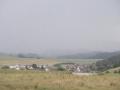 18. Juni 2016 - Verkehrsunfall, L388 Schneckenhausen - Heiligenmoschel; Blick Richtung Donnersberg. Regen und Gewitter.