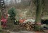 Orkan Wiebke: Am 2. März 1990 beseitigte die Feuerwehr Otterberg mehrere Gefahrenstellen, darunter auf dem Friedhof der Wallonenstadt.