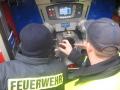 31. Oktober 2015: Einweisung für einen Teil der Maschinisten, die nicht bei der Abholung in Ulm dabei waren. Einweisung in die Fahrzeugpumpe.