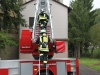 Praktische Ausbildung am 25. September 2010; Zirkeltraining auf dem Feuerwehr-Übungsgelände (Drehleiter hoch, Treppenhaus runter)