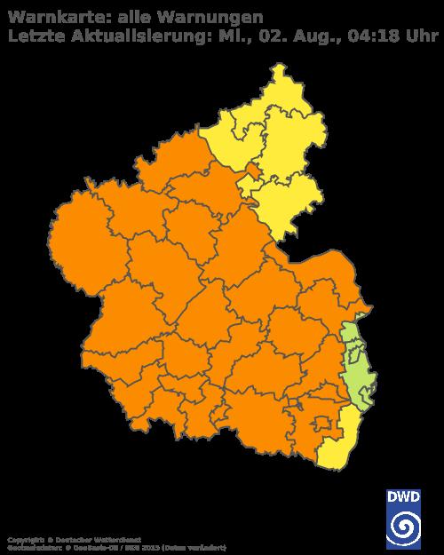 Aktuelle Wetterwarnungen für Kaiserslautern