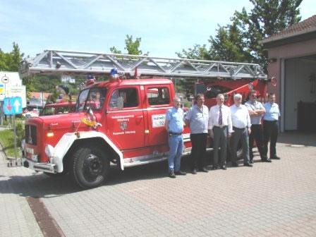 Übergabe alte Drehleiter an die Feuerwehr Zimmern ob Rottweil
