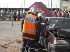 Schauübung der Feuerwehr Gueugnon