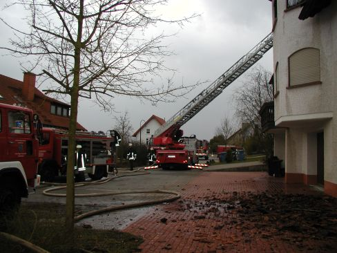 Gebäudebrand Mehlbach am 23. März 2009