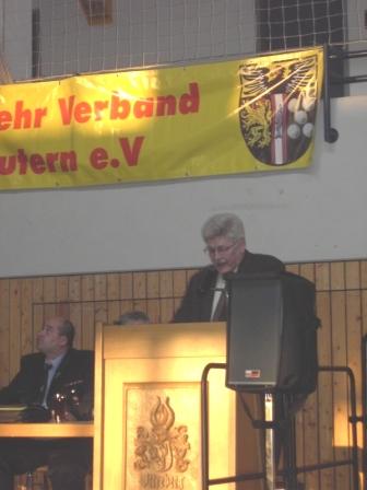 Bürgermeister Ulrich Wasser während seinen Grußworten.