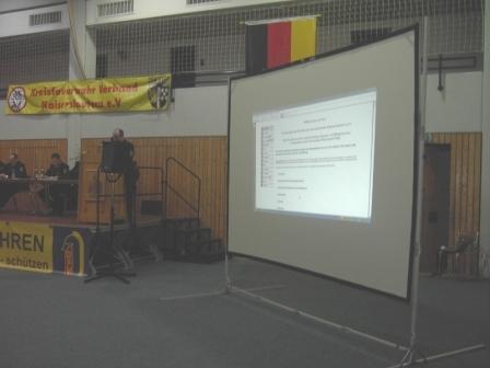 Während der Homepage-Vorstellung