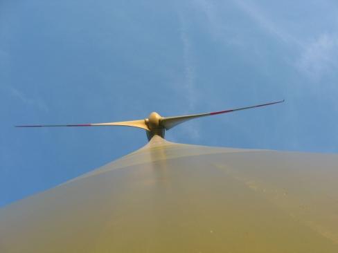 Hoch sind die Windenergieanlagen im Windpark Niederkirchen. Allein 98 Meter beträgt die Nabenhöhe.