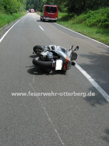 Der verunglückte Motorroller.