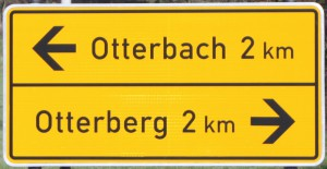 Wegweiser Otterbach - Otterberg