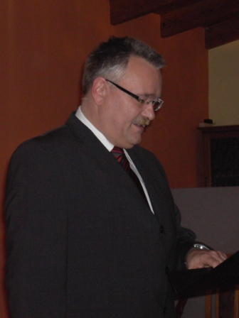 Bürgermeister Martin Müller während seiner Rede.