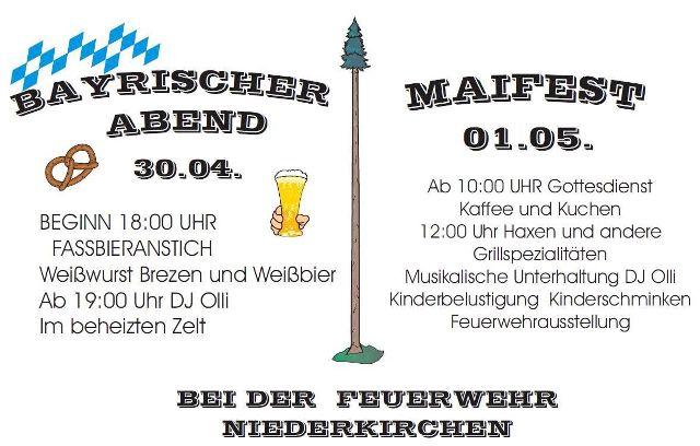 Bayrischer Abend und Maifest in Niederkirchen