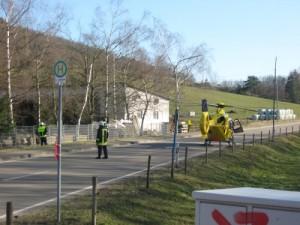 11. März 2011, Hubschrauberlandesicherung bei Niederkirchen