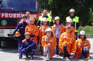 Teilnehmer und Helfer; Bild: Feuerwehr
