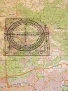 Teil einer UTM-Karte mit Planzeiger; Bild: Feuerwehr Otterberg