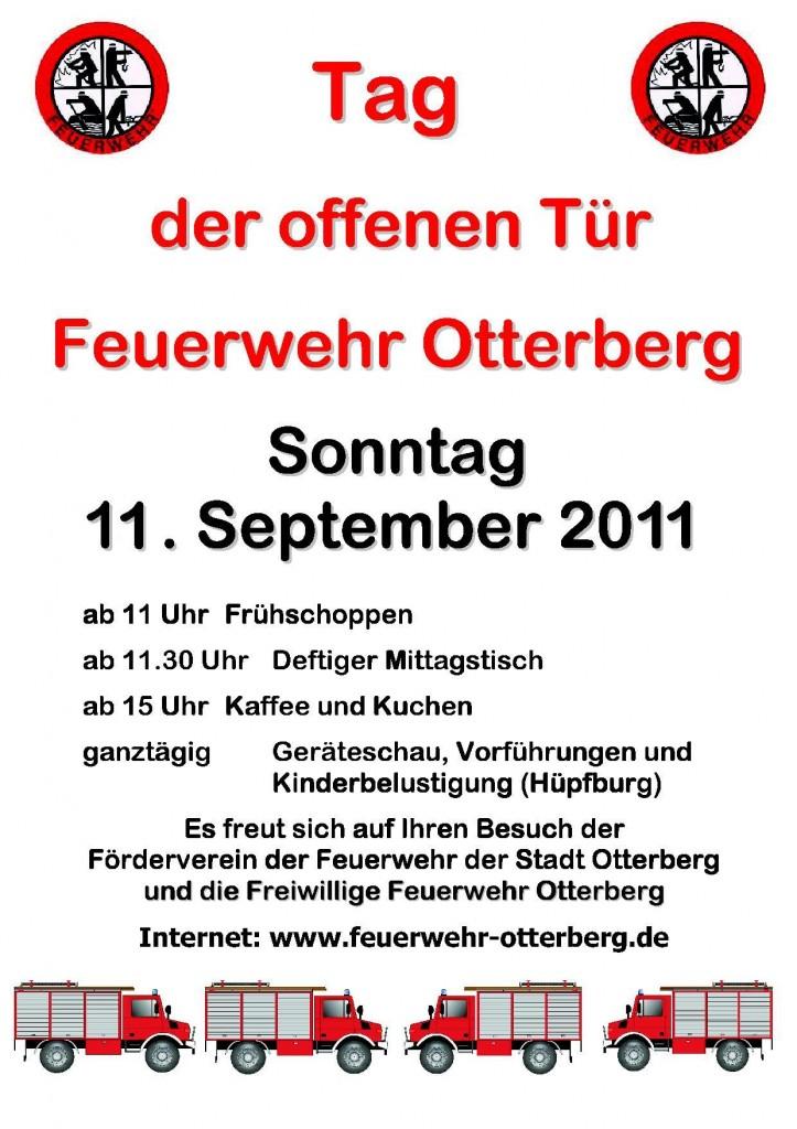 Plakat Feuerwehrfest 2011 | Link öffnet pdf-Datei