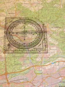 Teil einer UTM-Karte mit Planzeiger. Bild: Feuerwehr Otterberg