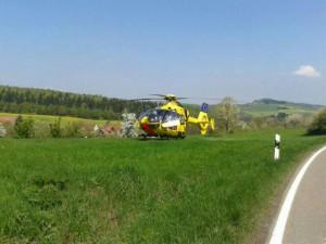 5. Mai 2013 - Hubschrauberlandesicherung, Otterberg Messerschwanderhof