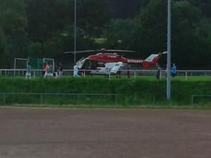 10. Juli 2013 - Hubschrauberlandesicherung, Niederkirchen Sportplatz