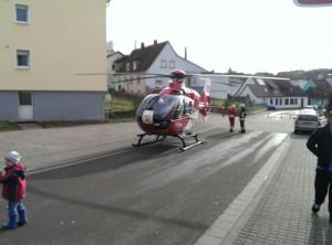 6. Dezember 2013 - Hubschrauberlandesicherung, Otterberg Blumenstraße