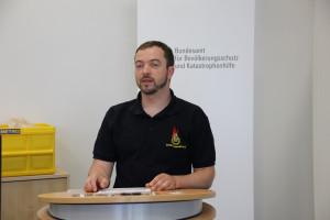 Bundesjugendleiter Timm Falkowski begrüßte über 60 Mitstreiter aus den Fachausschüssen bei der gemeinsamen Konferenz in Ahrweiler. Foto: Henrik Strate / DJF
