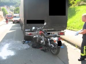 26. Juli 2014 - Verkehrsunfall mit Motorrad, Otterberg Ringstraße