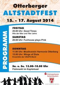 Plakat Altstadtfest 2014