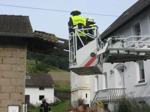6. August 2014 - Einsturzgefährdetes Vordach, Heiligenmoschel Rohmühle