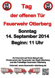 Plakat Feuerwehrfest 2014