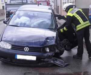 22. September 2014 - Verkehrsunfall, Otterbach Konrad-Adenauer-Straße