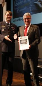 LFV-Präsident Frank Hachemer und Innenminister Roger Lewentz. Bild: LFV