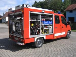 TSF Frankelbach; Geräteraum Rückseite und Geräteraum 2