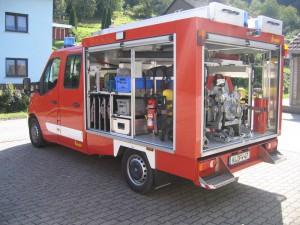 TSF Frankelbach; Geräteraum 1 und Geräteraum Rückseite