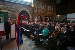 DFV-Vizepräsident Hermann SCHRECK eröffnet die Veranstaltung im Deutschen Feuerwehr-Museum. Foto: Rico Thumser / DFV