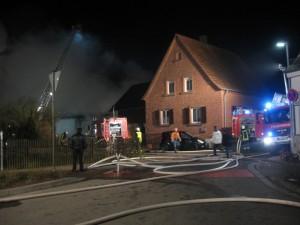 4. März 2015 - Scheunenbrand, Otterberg Lauterer Straße