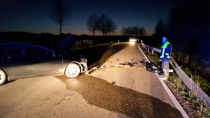 18. April 2015 - Verkehrsunfall, L382 Niederkirchen - Schallodenbach
