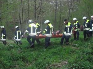 Alarmübung: Personensuche und -rettung im Wald