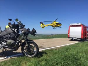 21. April 2015 - Hubschrauberlandesicherung, K31 Schallodenbach - Holbornerhof